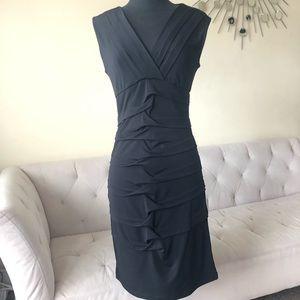 Roulette Black Sleeveless Dress